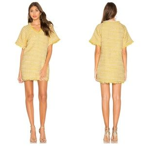 Lovers + Friends Sydney Frayed Hem Tweed Dress